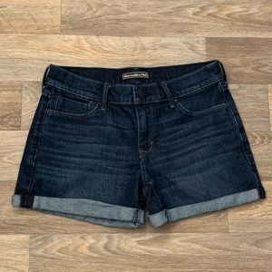 Abercrombie & Fitch Dark Denim Shorts